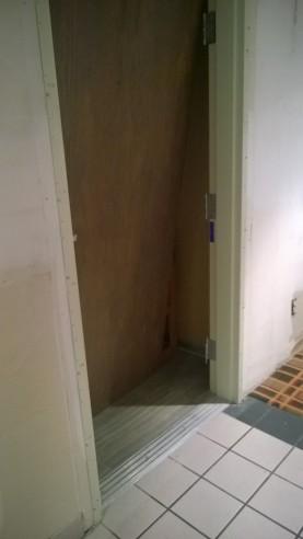 Who breaks in a door from the bottom?