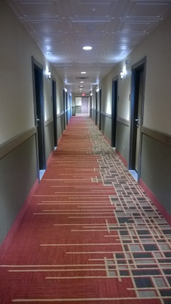 The endless hallway ...