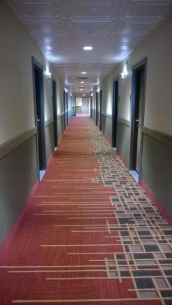The endless hallway ...
