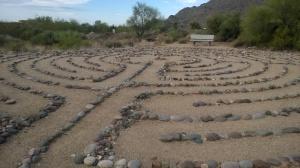 A meditative labyrinth; they also had a prayer walk called