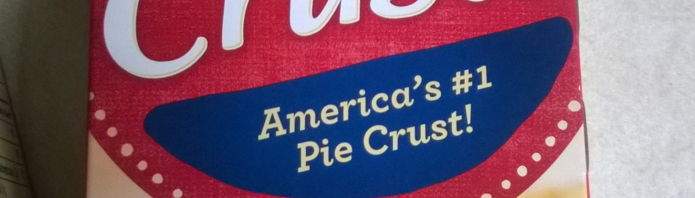 Package of ready-made pie crusts