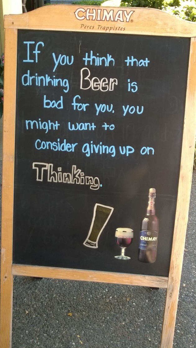 sign about beer
