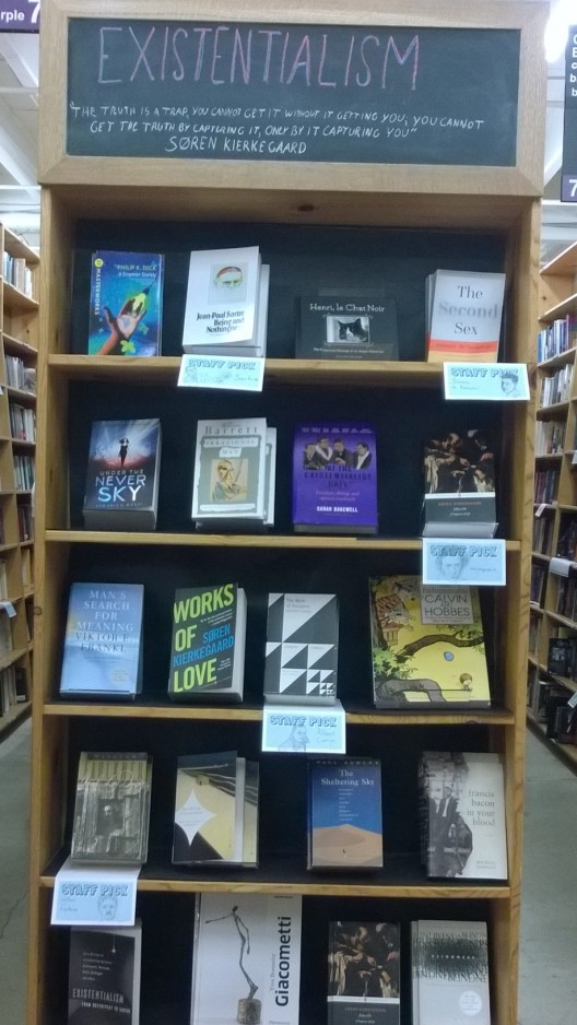 book display in Powell's books
