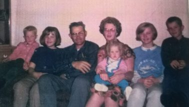 couple with five children