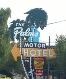 Old time motel sign
