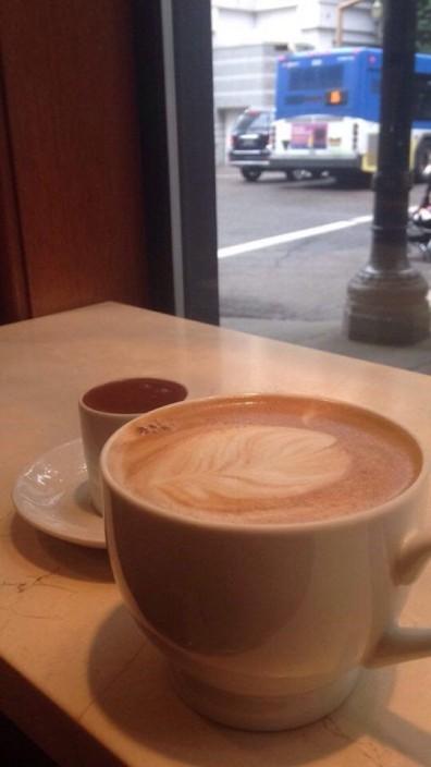 shot of chocolate and espresso