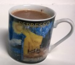 espresso cup with drinking chocolate