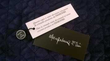 clothing tags from item made in Italy