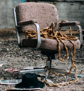 chair with rope