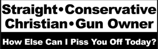 Straight conservative christian gun owner