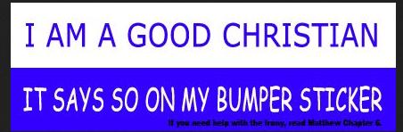 Bumper Sticker Christian