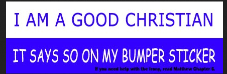 Bumper Sticker Christian