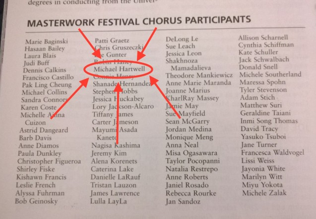 Husband's name in Playbill