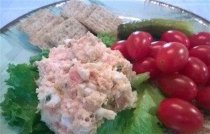 Egg salad with smoked salmon