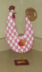 Pink checkered chicken