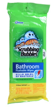 flushable wipes