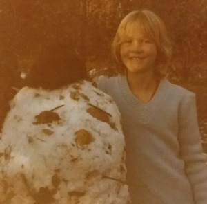 me with snowman up close