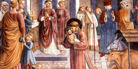 Nativity and st francis