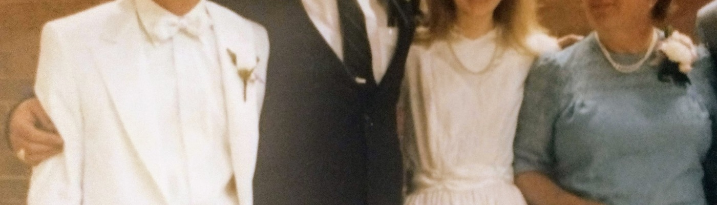 wedding photo from 1980s