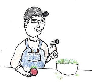 Fixing a salad