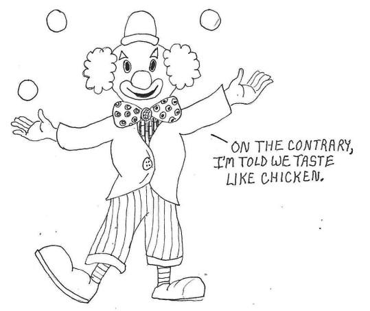 clown eating