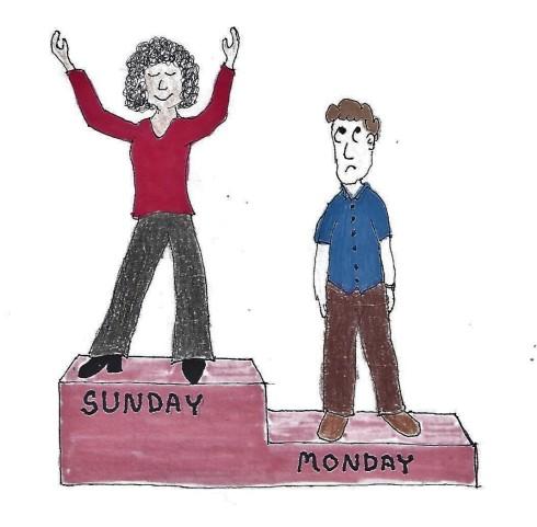 Sunday beats Monday