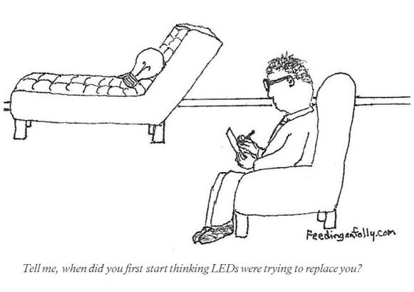 Comic of psychiatrist with a light bulb