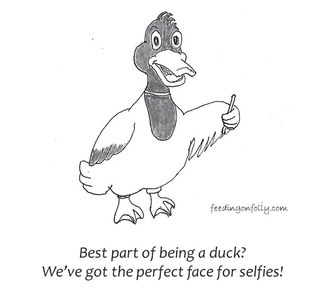 Duck face selfie