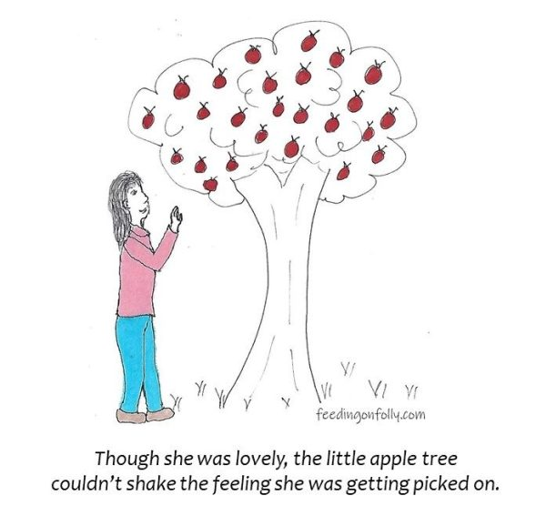 drawing of apple tree