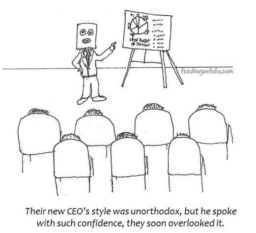comic drawing CEO at meeting