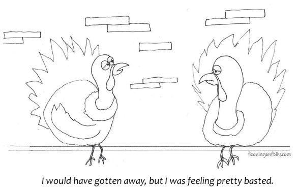 drawing of two turkeys in jail