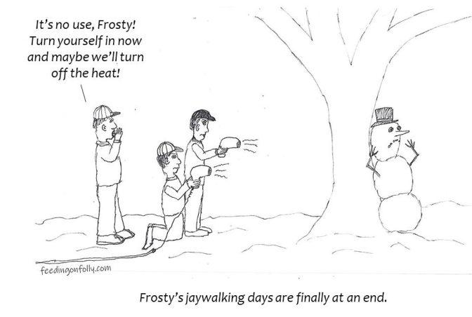 comic drawing snowman