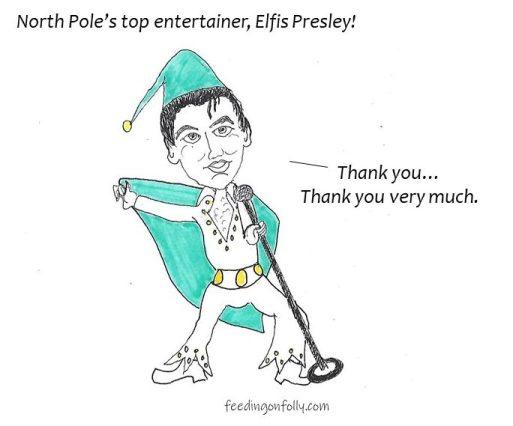 comic elfis presley