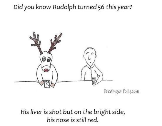 comic rudolph at bar