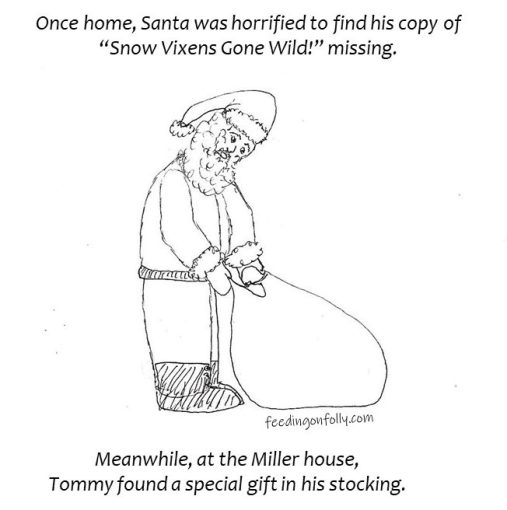 drawing Santa with bag