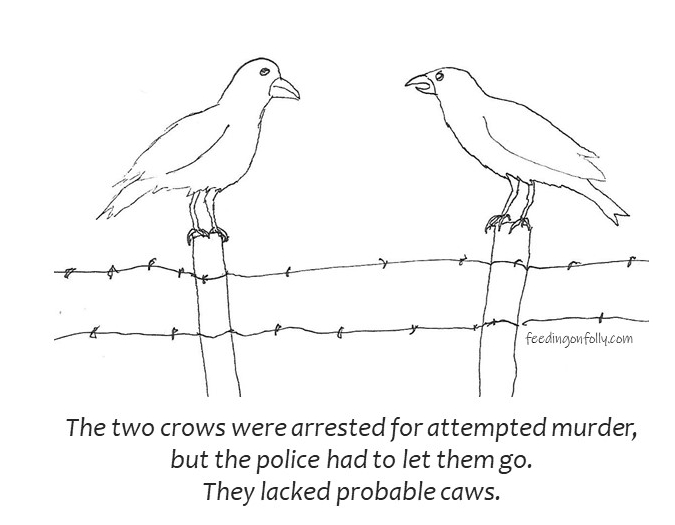 comic of two crows on fence
